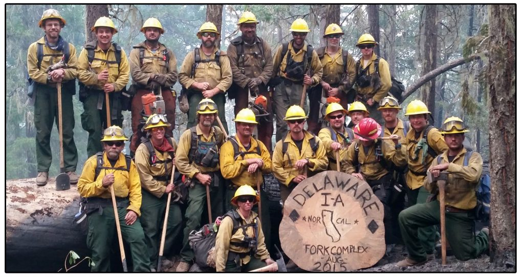 Delaware fire crew in California