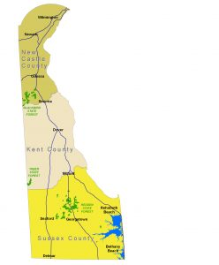 Delaware State Forest Map