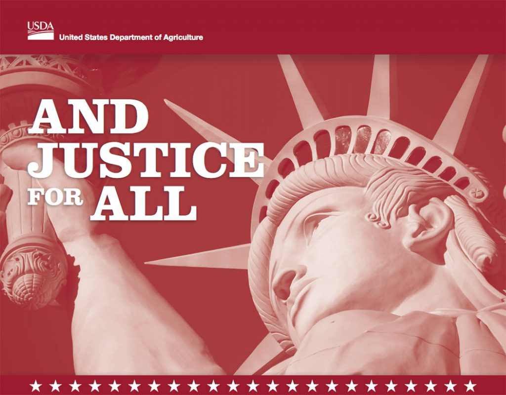 USDA's And Justice for All poster