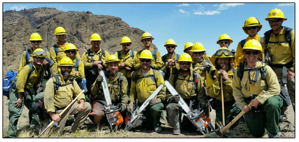 Delaware wildfire crew on a western fire assignment