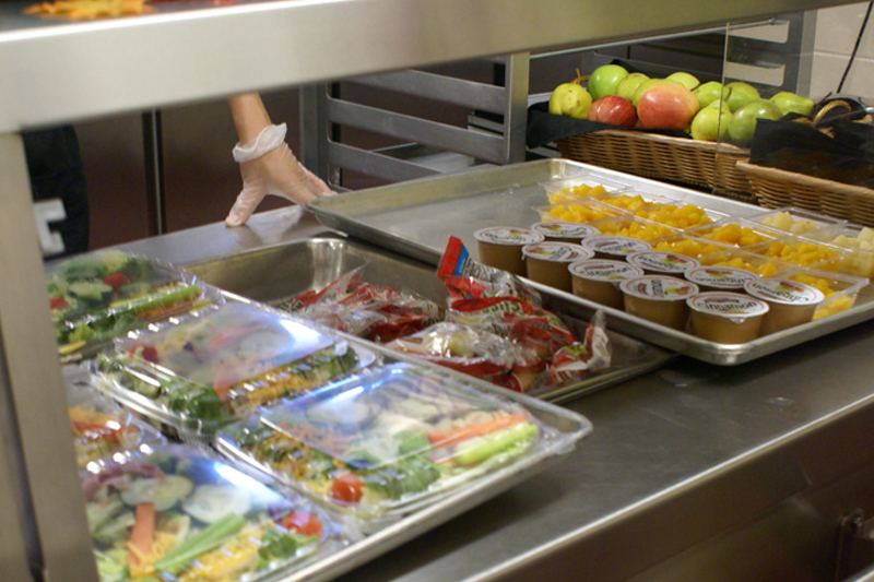 Image of a school lunch